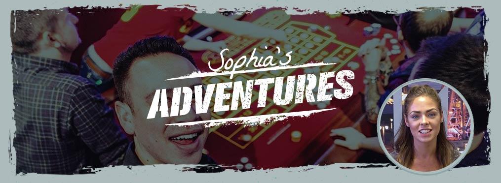 Sophia Gambling A Fair Few Pounds In Prague